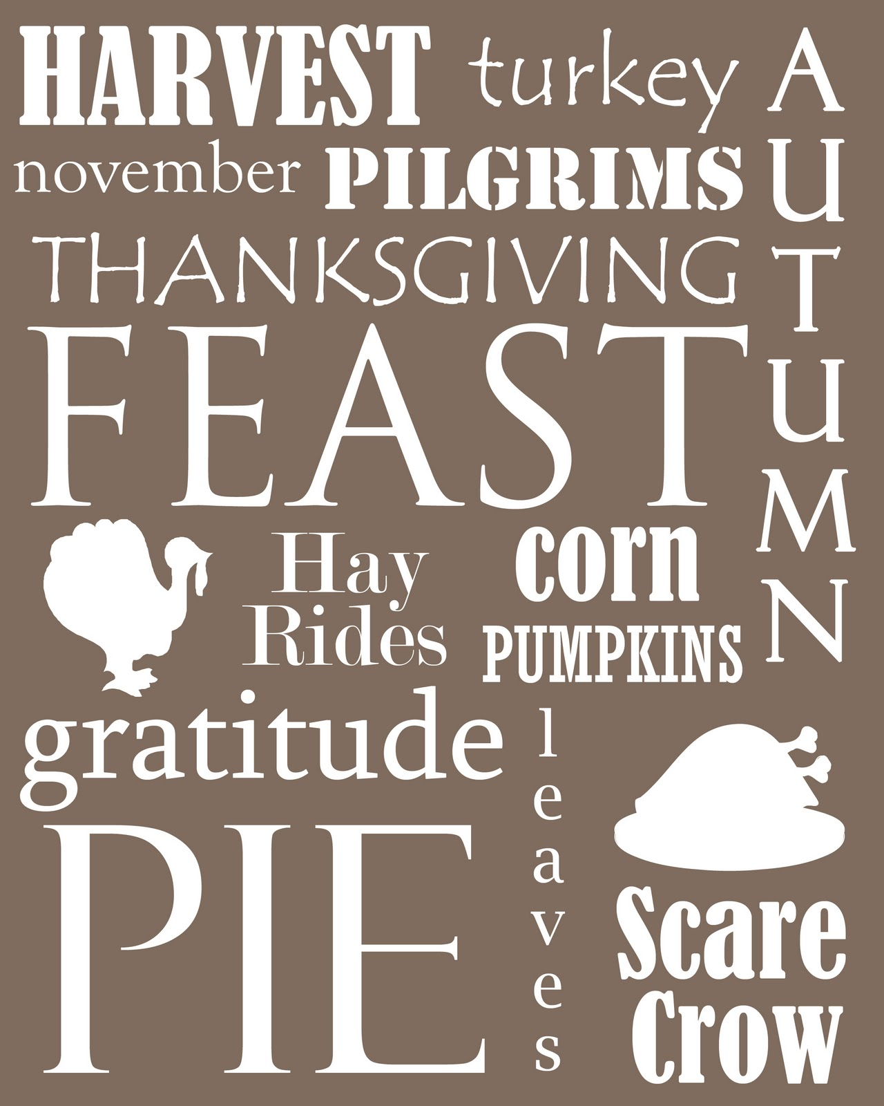 Free Thanksgiving Printables!   Jellybean Junkyard